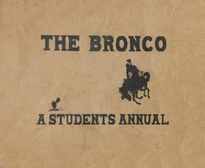 The Bronco, Yearbook of Denton High School, 1906