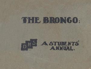The Bronco, Yearbook of Denton High School, 1905