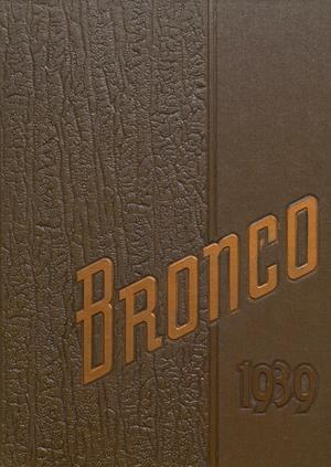 The Bronco, Yearbook of Denton High School, 1939