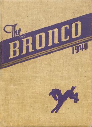 The Bronco, Yearbook of Denton High School, 1940
