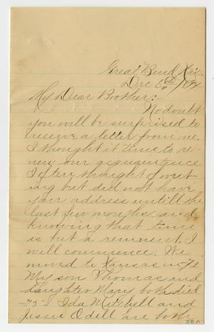 [Letter from Melda O'Dell to her Brother, December 6, 1894]