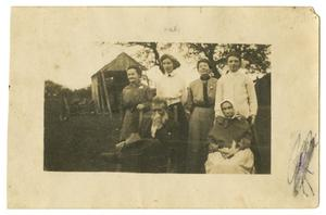 Primary view of object titled '[Photograph of Members of the Pound Family at Home]'.