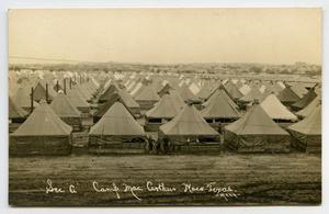 [Postcard of Camp MacArthur Tents]