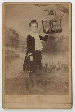 [Portrait of Girl and Birdcage]