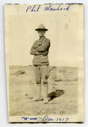 [Photograph of Phil Blanchard at Camp MacArthur]