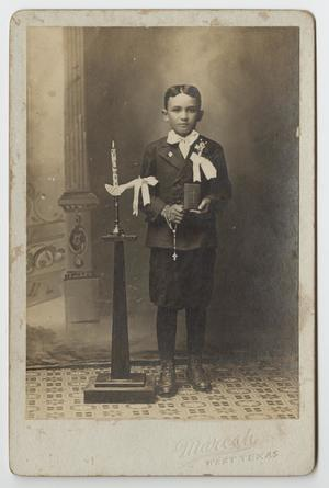Primary view of object titled '[Portrait of Boy]'.