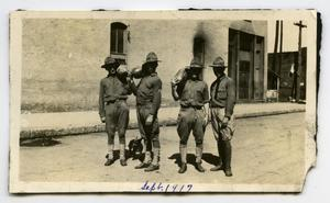 [Photograph of Soldiers with Watermelons]