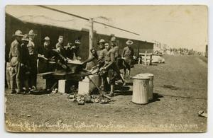 [Postcard of Soldiers Washing Dishes]