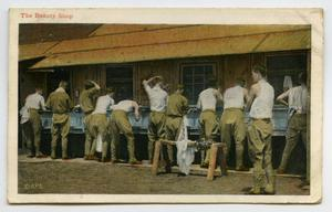 [Postcard of Soldiers Washing]