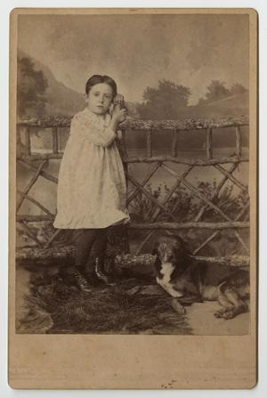 [Portrait of Child and Dog]