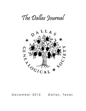 Primary view of object titled 'The Dallas Journal, Volume 58, December 2012'.