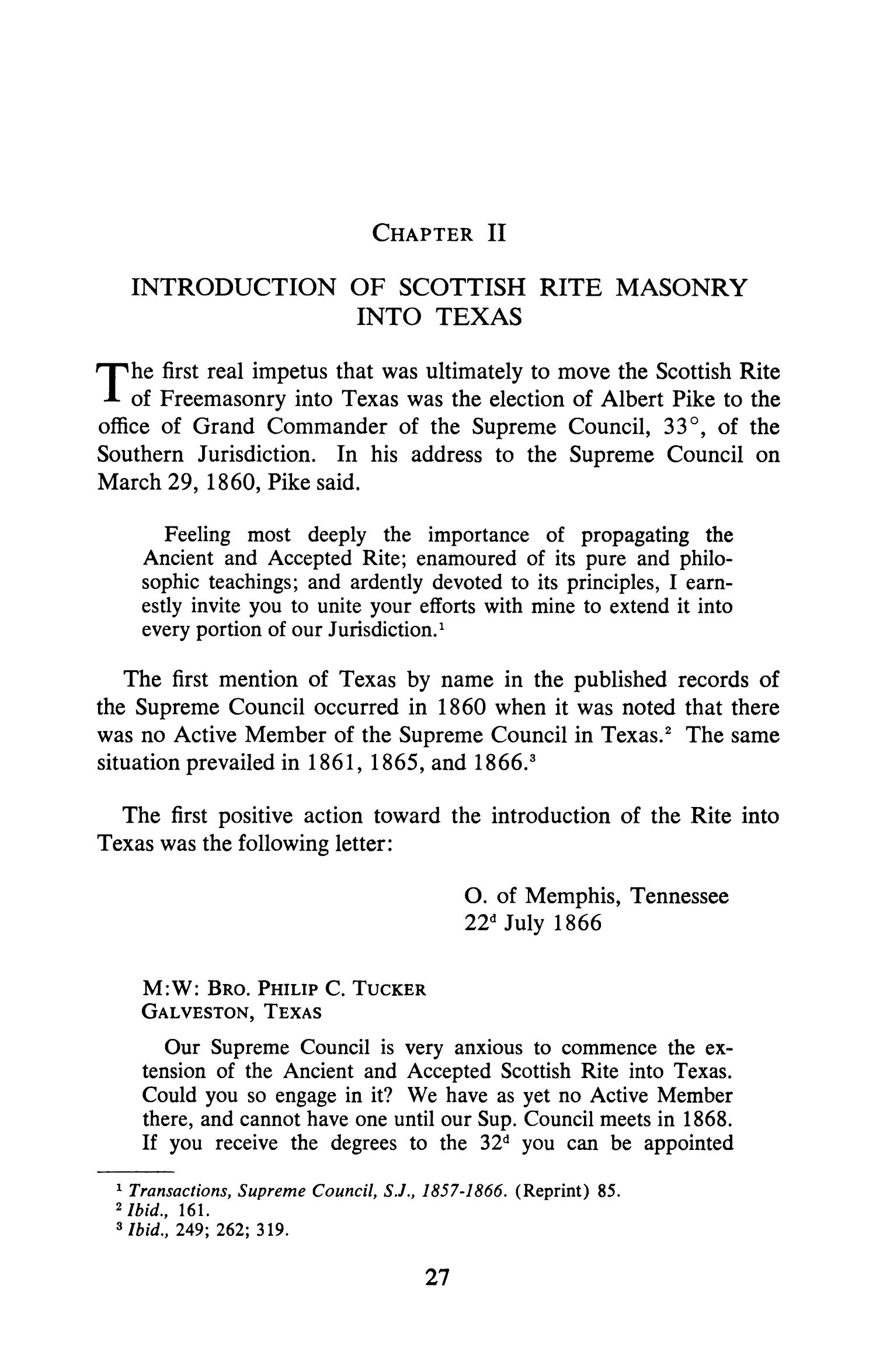The First Century of Scottish Rite Masonry in Texas, 1867-1967                                                                                                      27