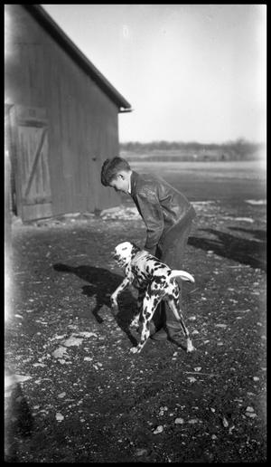 Primary view of object titled '[Boy with a Dalmatian]'.