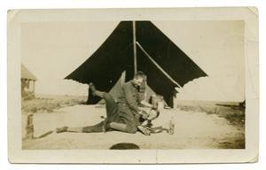 [Photograph of Two Soldiers having Fun]