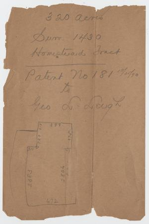 [Two Maps of Homestead Tract in Kerr County, Texas]