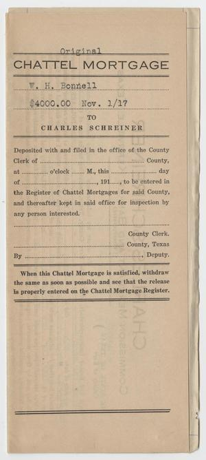 [Chattel Mortgage Agreement Between W. H. Bonnell and Charles Schreiner]