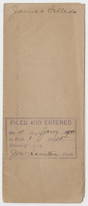 [Handwritten Title Transfer from James Sellers to C. C. Paine, March 7, 1900]