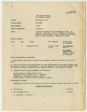 Primary view of object titled '[Conference Program for the Infantry School in Fort Benning, Georgia]'.