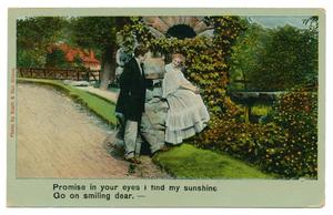 "Primary view of object titled '[Illustrated Song Postcard, ""Go on Smiling"": Part 4]'."