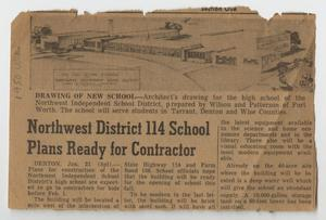 [Newspaper Article Concerning the Construction of a New School]