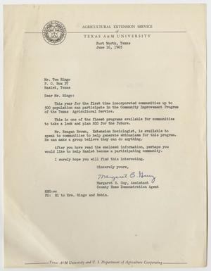 Primary view of object titled '[Letter from Margaret B. Guy to Tom Ringo, June 16, 1965]'.