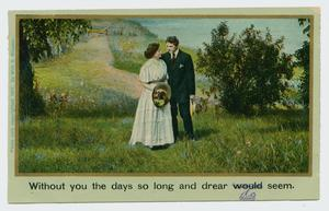 "Primary view of object titled '[Illustrated Song Postcard, ""You're the Brightest Star of all My Dreams"": Part 2]'."