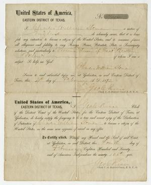 [Certificate of Declaration for Charles William Sloman]