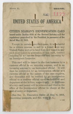 [Identification Card for Charles William Sloman]