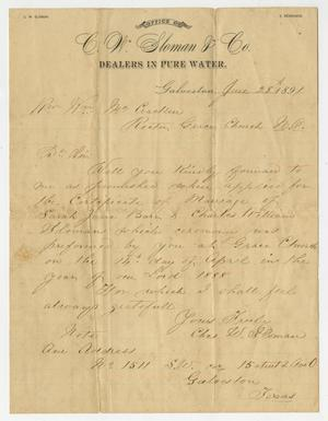 [Correspondence Between Charles William Sloman and Two Reverends]