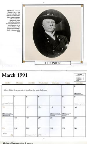 Pioneers Of Abilene 1991 Calendar The Portal To Texas History
