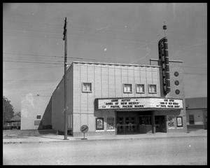 Primary view of object titled 'Stanley Theater in Luling, Texas'.