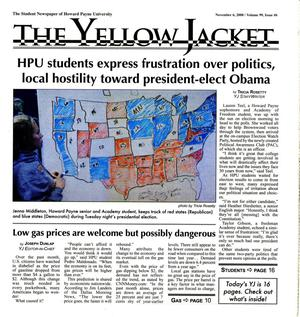 Primary view of object titled 'The Yellow Jacket (Brownwood, Tex.), Vol. 99, No. 6, Ed. 1 Thursday, November 6, 2008'.