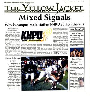 The Yellow Jacket (Brownwood, Tex.), Vol. 99, No. 2, Ed. 1 Thursday, September 11, 2008