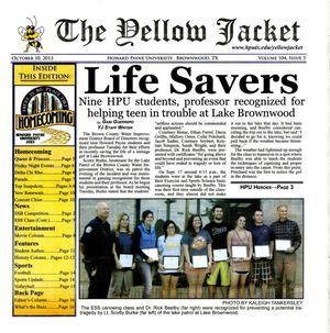 The Yellow Jacket (Brownwood, Tex.), Vol. 104, No. 3, Ed. 1 Thursday, October 10, 2013