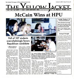 Primary view of object titled 'The Yellow Jacket (Brownwood, Tex.), Vol. 99, No. 5, Ed. 1 Thursday, October 23, 2008'.