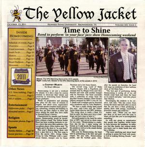 Primary view of object titled 'The Yellow Jacket (Brownwood, Tex.), Vol. 102, No. 3, Ed. 1 Thursday, October 13, 2011'.