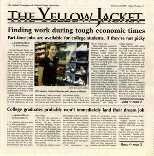 Primary view of object titled 'The Yellow Jacket (Brownwood, Tex.), Vol. 99, No. 11, Ed. 1 Thursday, February 26, 2009'.
