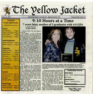 Primary view of object titled 'The Yellow Jacket (Brownwood, Tex.), Vol. 102, No. 12, Ed. 1 Thursday, April 26, 2012'.