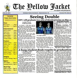 The Yellow Jacket (Brownwood, Tex.), Vol. 103, No. 12, Ed. 1 Thursday, April 25, 2013