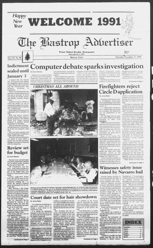 Primary view of object titled 'The Bastrop Advertiser (Bastrop, Tex.), Ed. 1 Thursday, December 27, 1990'.