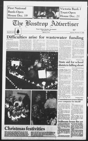 Primary view of object titled 'The Bastrop Advertiser (Bastrop, Tex.), Ed. 1 Monday, December 17, 1990'.