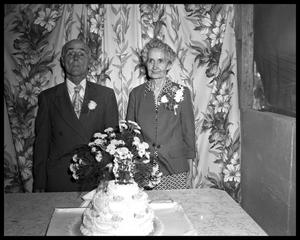 Primary view of object titled '50th Wedding Anniversary, Mr. and Mrs. R. F. Holden'.