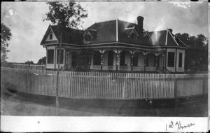 Primary view of object titled '[Postcard image of the first George Ranch House]'.