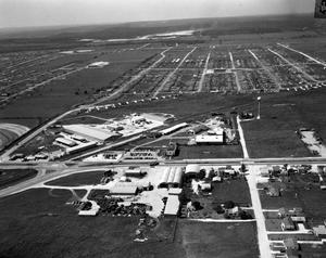 Primary view of object titled 'Aerial view of Jefferson Chemical Plant'.