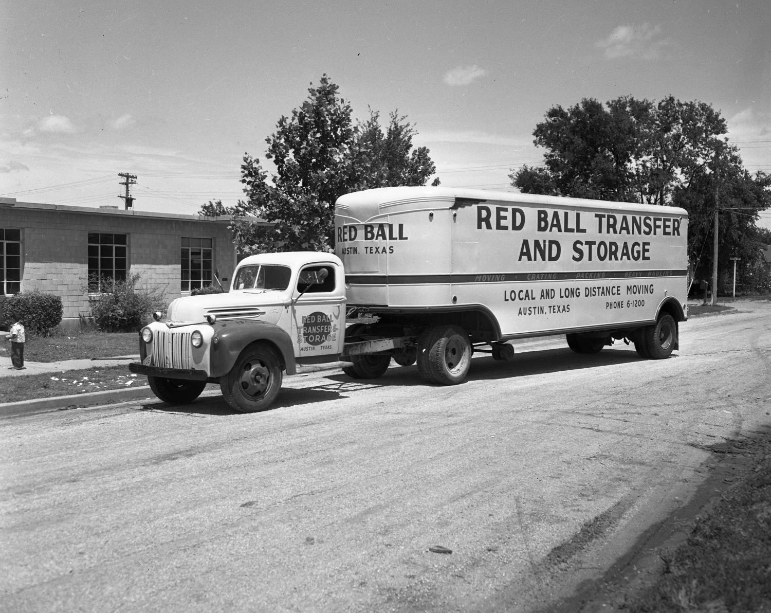 Red Ball Transfer And Moving Building Truck The Portal To Texas History