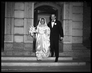 Primary view of object titled 'Wallace Scott Jr. Wedding - Bride and Groom leave Church'.