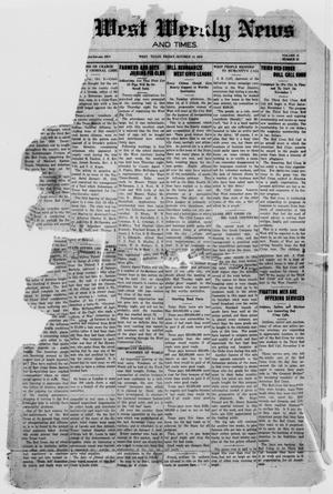 The West Weekly News and Times. (West, Tex.), Vol. 11, No. 52, Ed. 1 Friday, October 10, 1919