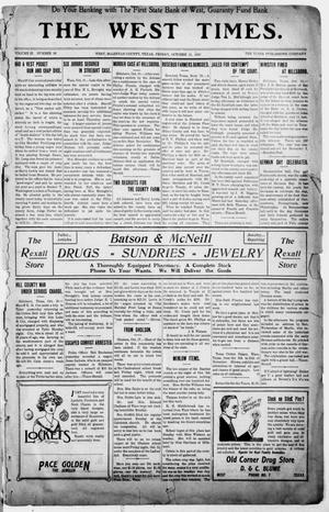 The West Times. (West, Tex.), Vol. 22, No. 36, Ed. 1 Friday, October 21, 1910