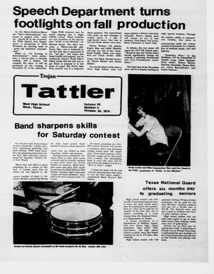 Primary view of object titled 'Trojan Tattler (West, Tex.), Vol. 30, No. 4, Ed. 1 Thursday, October 24, 1974'.