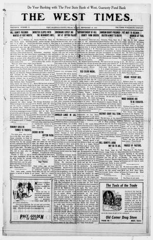 The West Times. (West, Tex.), Vol. 22, No. 33, Ed. 1 Friday, September 30, 1910
